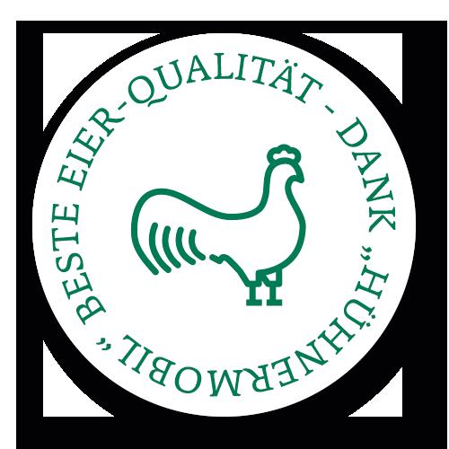"Dank ""Hühnermobil"" beste Eier-Qualität!"
